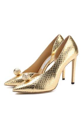 Туфли Sadira 100 из металлизированной кожи на шпильке | Фото №1
