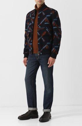Мужские джинсы-скинни с потертостями TOM FORD синего цвета, арт. BRJ21/TFD002 | Фото 2
