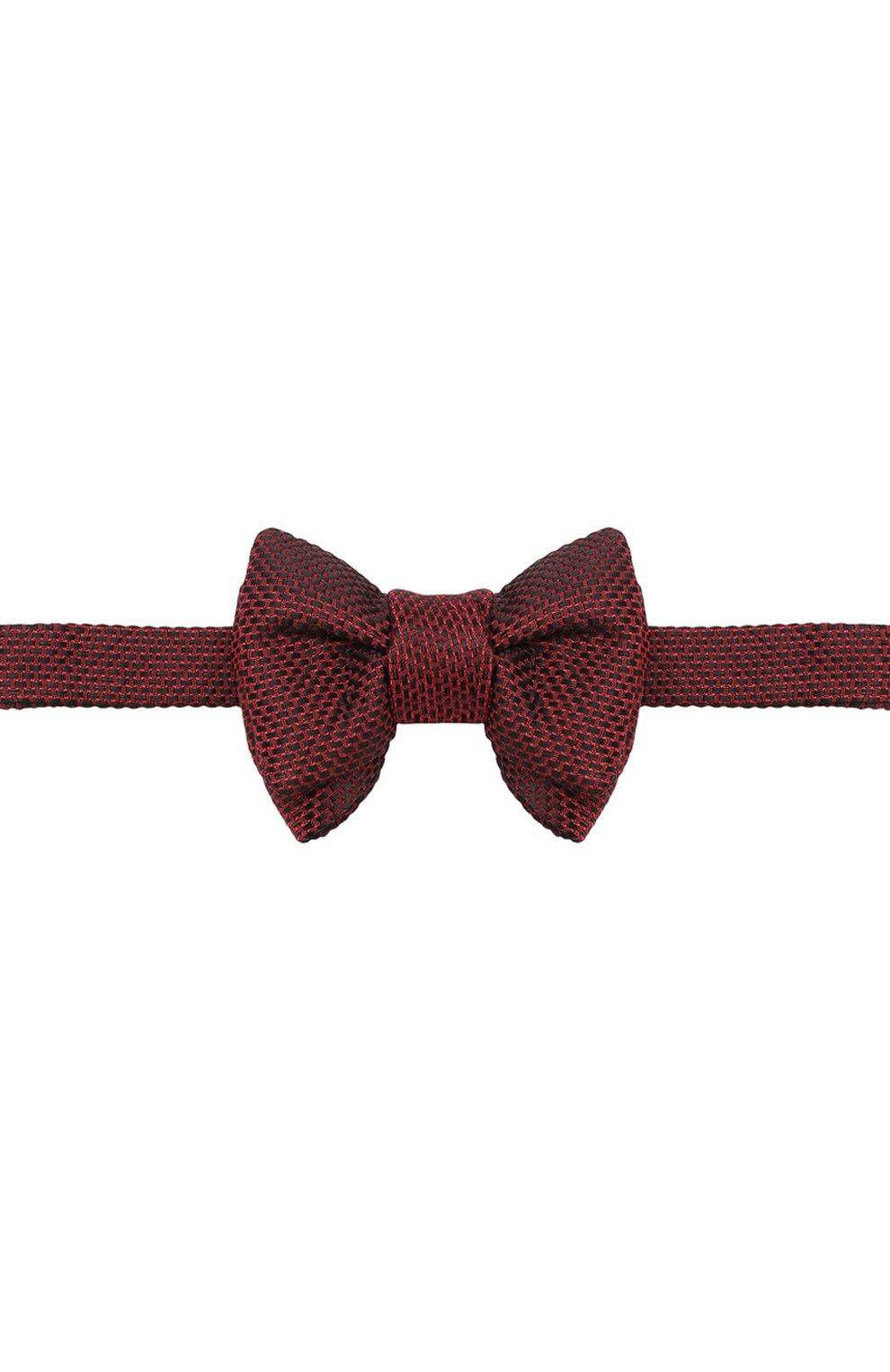 Мужской галстук-бабочка из смеси шелка и хлопка TOM FORD красного цвета, арт. 4TF24/4CH | Фото 1