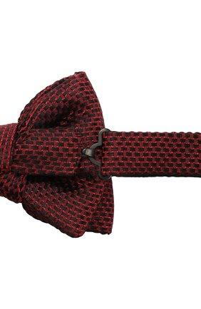 Мужской галстук-бабочка из смеси шелка и хлопка TOM FORD красного цвета, арт. 4TF24/4CH | Фото 3