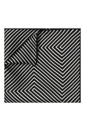 Мужской шелковый платок TOM FORD черно-белого цвета, арт. 4TF93/TF312 | Фото 1
