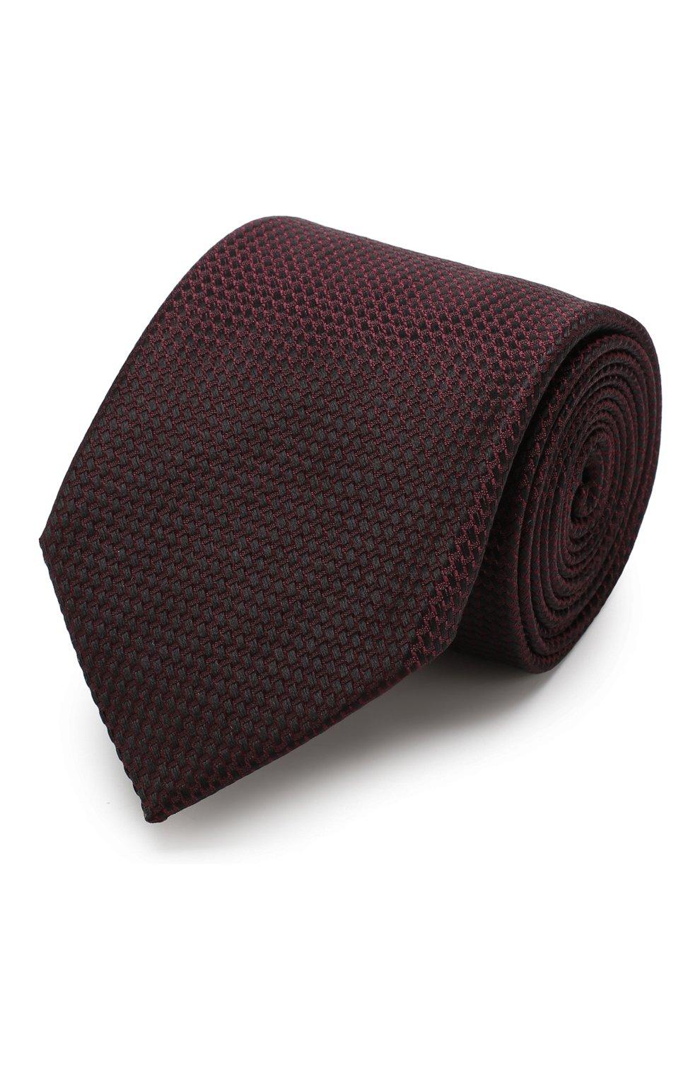 Мужской галстук из смеси шелка и хлопка TOM FORD фиолетового цвета, арт. 4TF24/XTM   Фото 1