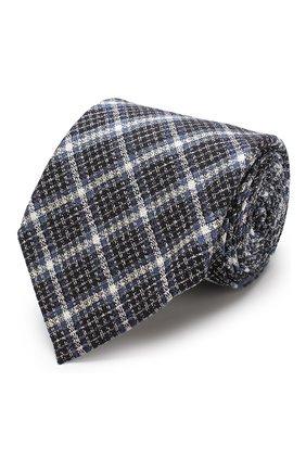 Мужской галстук из смеси шелка и шерсти TOM FORD темно-синего цвета, арт. 4TF11/XTM   Фото 1
