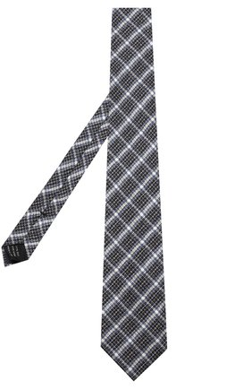 Мужской галстук из смеси шелка и шерсти TOM FORD темно-синего цвета, арт. 4TF11/XTM | Фото 2