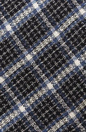 Мужской галстук из смеси шелка и шерсти TOM FORD темно-синего цвета, арт. 4TF11/XTM | Фото 3