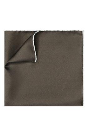 Мужской шелковый платок TOM FORD темно-бежевого цвета, арт. 4TF88/TF312 | Фото 1