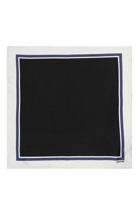 Мужской шелковый платок TOM FORD светло-серого цвета, арт. 4TF90/TF312 | Фото 3