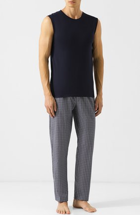 Мужские хлопковые домашние брюки HANRO темно-серого цвета, арт. 075436 | Фото 2