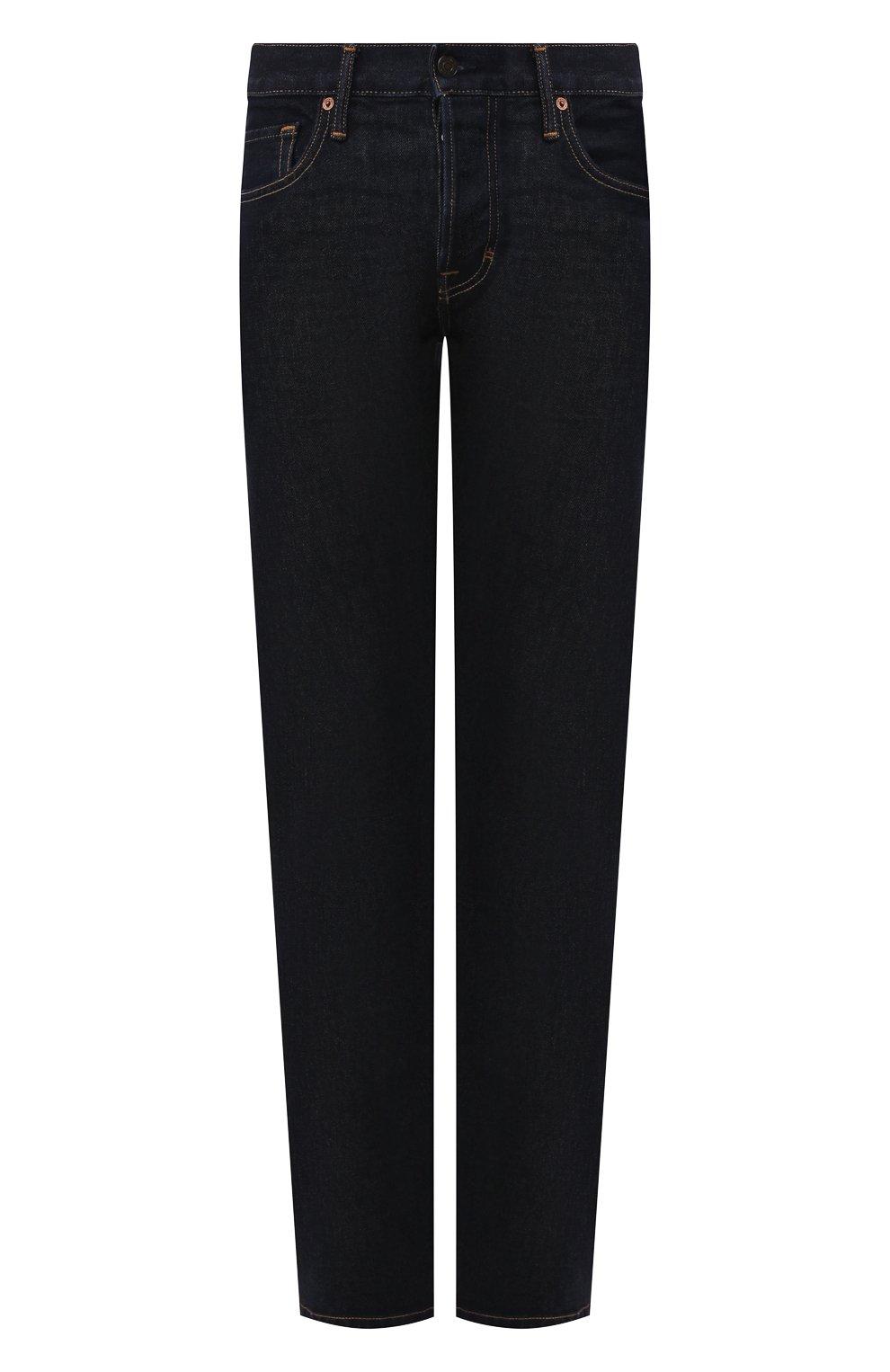Мужские джинсы TOM FORD темно-синего цвета, арт. BRJ18/TFD002 | Фото 1