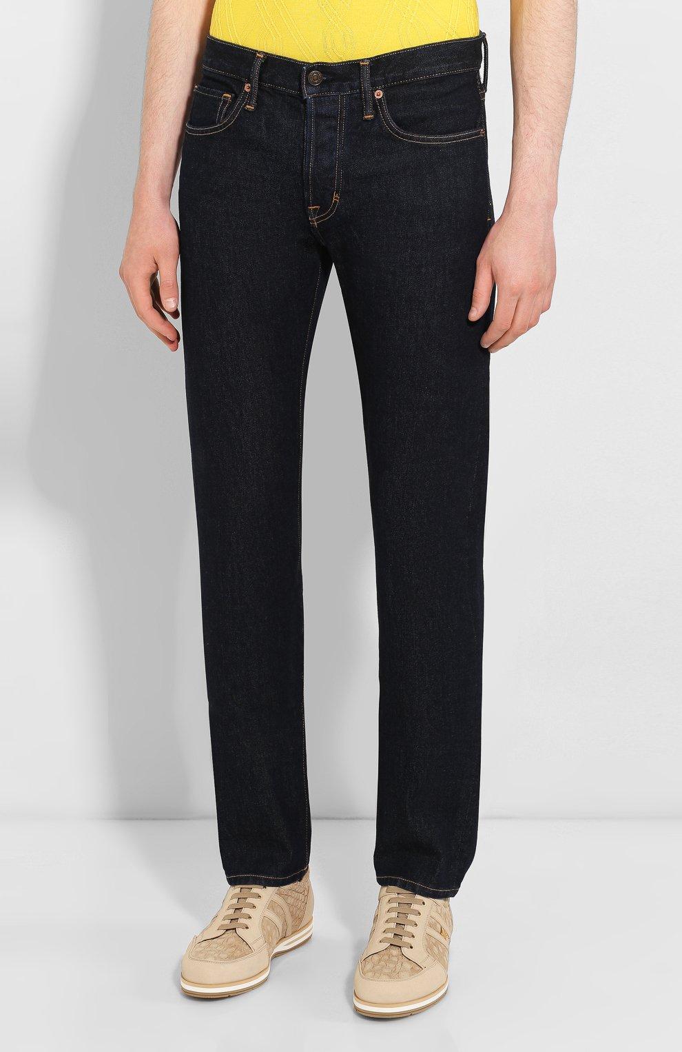 Мужские джинсы TOM FORD темно-синего цвета, арт. BRJ18/TFD002 | Фото 3