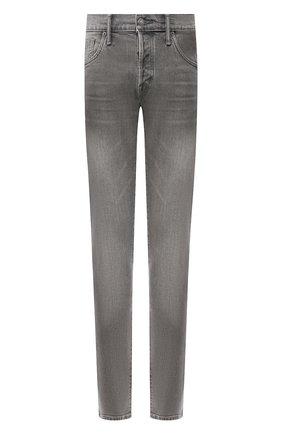 Мужские джинсы прямого кроя TOM FORD серого цвета, арт. BRJ04/TFD002 | Фото 1