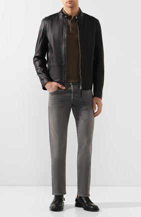 Мужские джинсы прямого кроя TOM FORD серого цвета, арт. BRJ04/TFD002 | Фото 2
