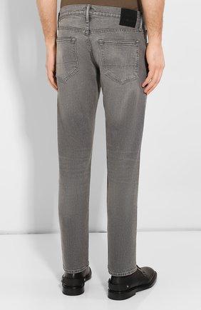 Мужские джинсы прямого кроя TOM FORD серого цвета, арт. BRJ04/TFD002 | Фото 4
