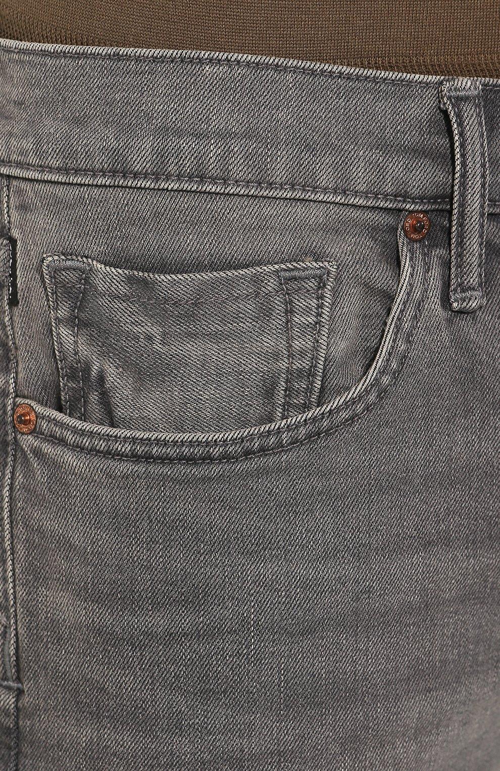 Мужские джинсы прямого кроя TOM FORD серого цвета, арт. BRJ04/TFD002 | Фото 5