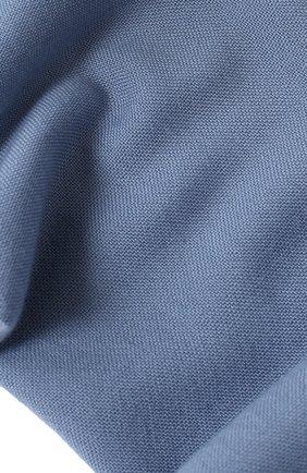 Мужской шерстяной шарф с необработанным краем LORO PIANA голубого цвета, арт. FAI1134 | Фото 2