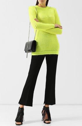 Вязаный пуловер с декоративными пуговицами Balmain желтый   Фото №1
