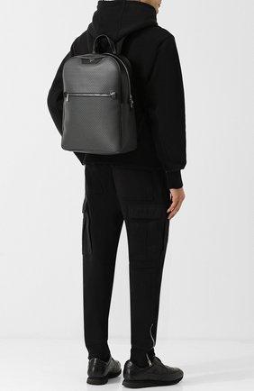 Рюкзак Stepan с кожаной отделкой Serapian серый | Фото №1