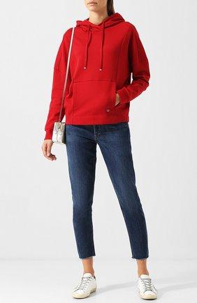 Хлопковый пуловер с капюшоном Windsor красный | Фото №1