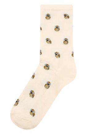 Хлопковые носки с вышитым принтом | Фото №1