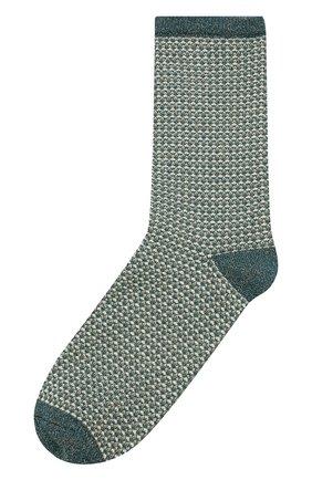 Женские носки с металлизированной нитью ROYALTIES зеленого цвета, арт. H0NEY/PETR0LE | Фото 1