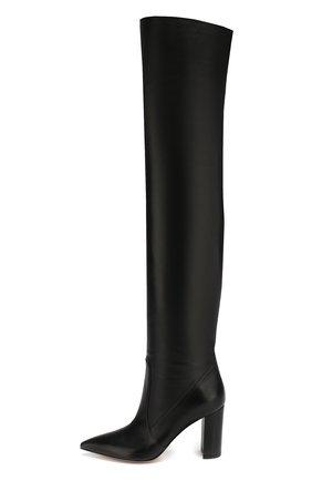Женские кожаные ботфорты morgan 85 на устойчивом каблуке GIANVITO ROSSI черного цвета, арт. G80618.85RIC.NVINER0   Фото 3