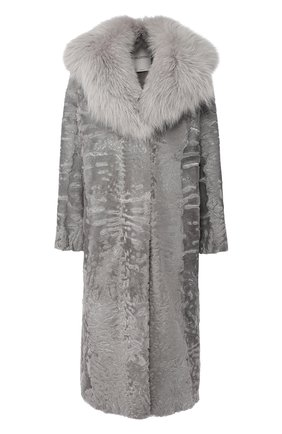 Меховое пальто прямого кроя | Фото №1
