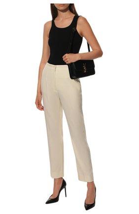 Укороченные шерстяные брюки Dolce & Gabbana белые   Фото №1
