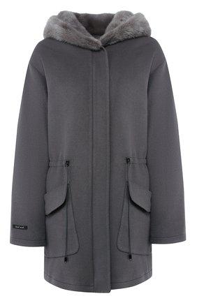 Двустороннее пальто из смеси шерсти и кашемира | Фото №1