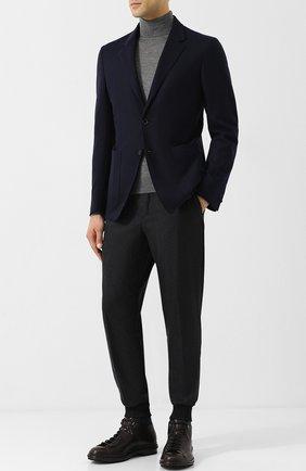 Мужской однобортный пиджак из кашемира ZEGNA COUTURE темно-синего цвета, арт. 477N00/1DV3N0 | Фото 2