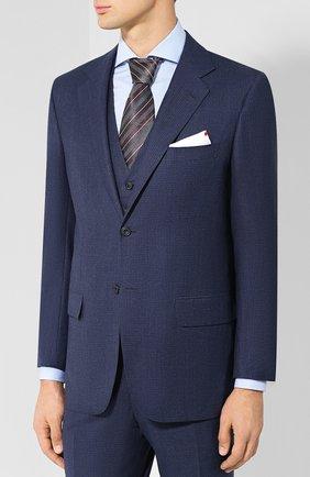 Мужской костюм-тройка из шерсти KITON синего цвета, арт. UAGL81K01X26 | Фото 2