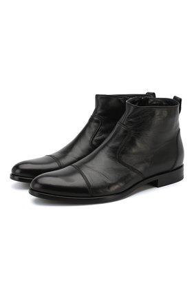 Кожаные сапоги на молнии Aldo Brue черные | Фото №1