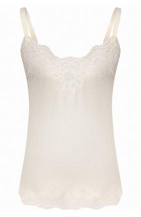 Женская топ из смеси шелка и хлопка DOLCE & GABBANA белого цвета, арт. 07A00T/FUAD8   Фото 1
