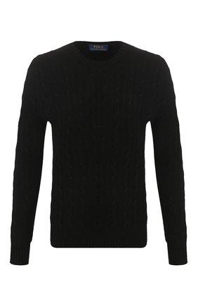 Мужской кашемировый джемпер POLO RALPH LAUREN черного цвета, арт. 710613099 | Фото 1