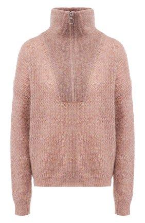 Вязаный пуловер с высоким воротником Isabel Marant Etoile розовый   Фото №1