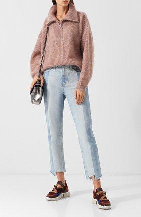 Вязаный пуловер с высоким воротником Isabel Marant Etoile розовый   Фото №2