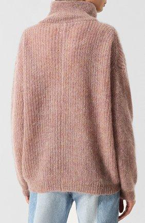 Вязаный пуловер с высоким воротником Isabel Marant Etoile розовый   Фото №4