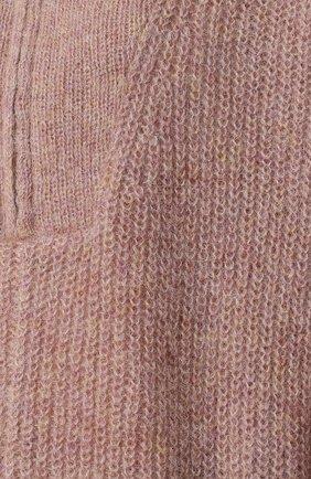 Вязаный пуловер с высоким воротником Isabel Marant Etoile розовый   Фото №5