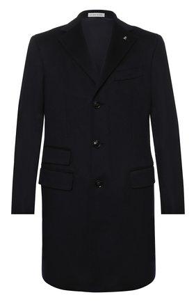 Кашемировое однобортное пальто  | Фото №1