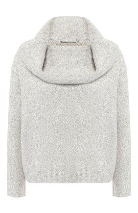 Шерстяной пуловер с объемным воротником Vince розовый | Фото №1
