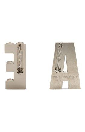 набор из двух брошей с отделкой кристаллами EMPORIO ARMANI прозрачного цвета, арт. 1NXS20/1NS20 | Фото 2