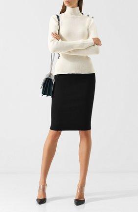 Однотонная юбка-карандаш Roland Mouret черная   Фото №1