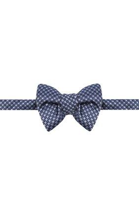 Мужской шелковый галстук-бабочка TOM FORD синего цвета, арт. 4TF08/4CH   Фото 1