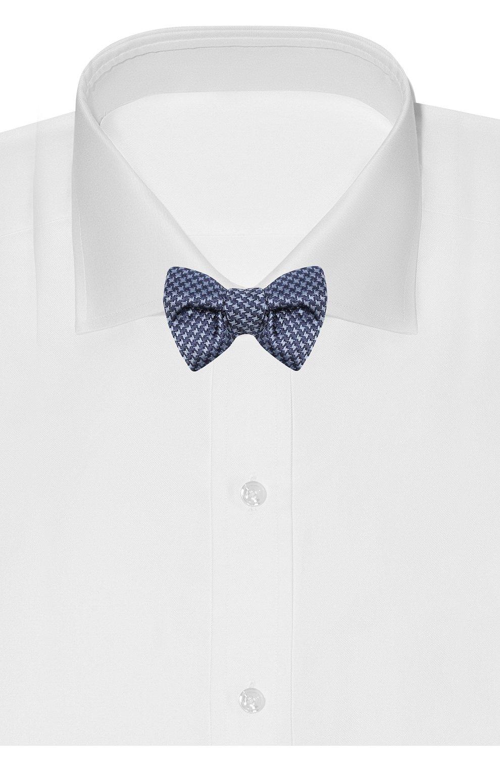 Мужской шелковый галстук-бабочка TOM FORD синего цвета, арт. 4TF08/4CH   Фото 2