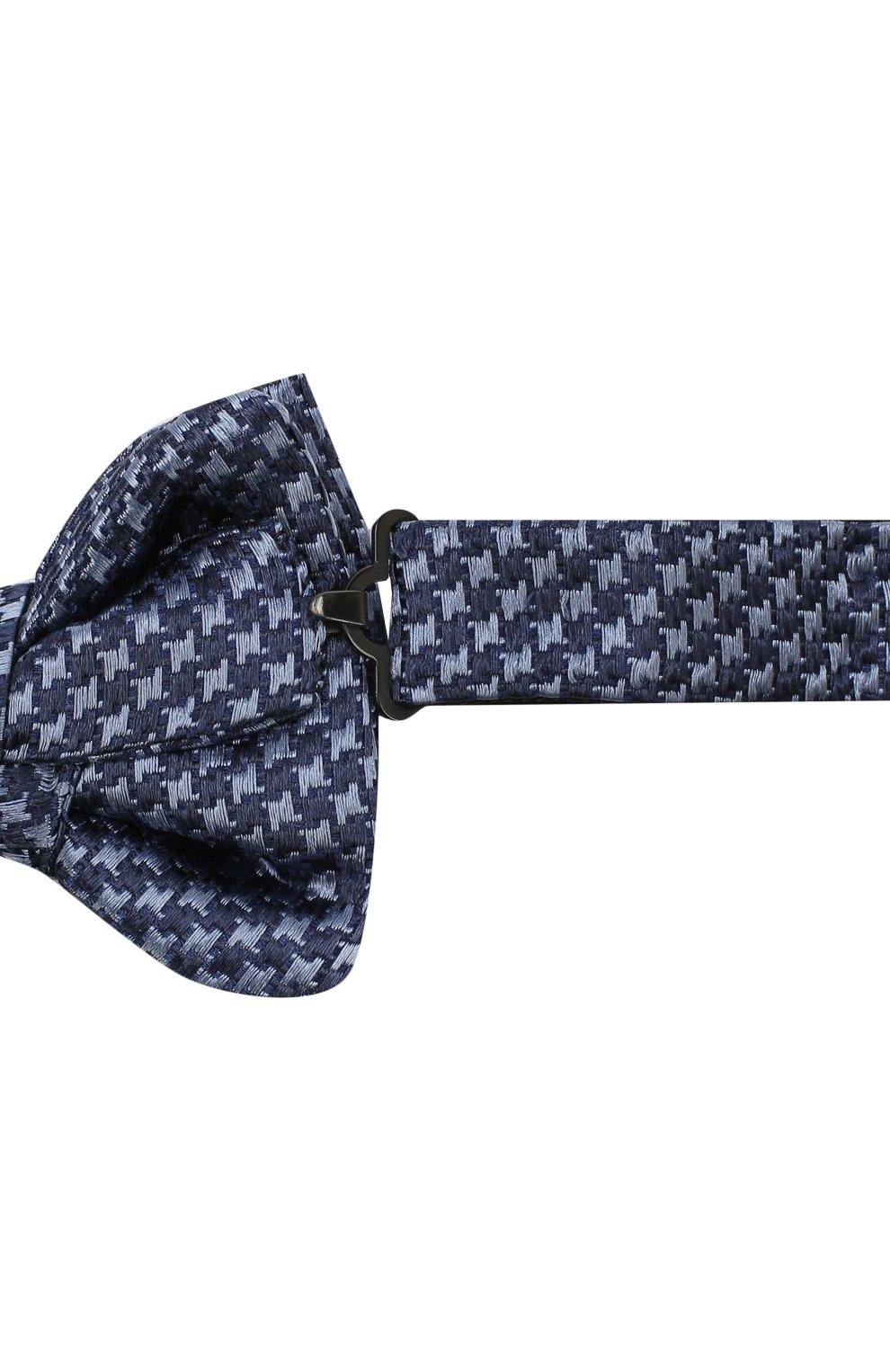 Мужской шелковый галстук-бабочка TOM FORD синего цвета, арт. 4TF08/4CH   Фото 3