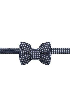 Мужской шелковый галстук-бабочка TOM FORD синего цвета, арт. 4TF43/4CH | Фото 1