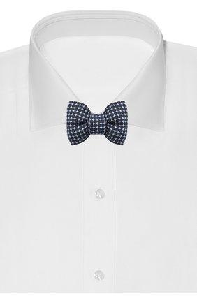 Мужской шелковый галстук-бабочка TOM FORD синего цвета, арт. 4TF43/4CH | Фото 2