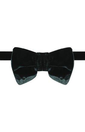 Мужской галстук-бабочка из вискозы TOM FORD темно-зеленого цвета, арт. 4TF01/4CH | Фото 1