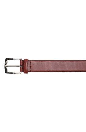 Мужской кожаный ремень с металлической пряжкой A. TESTONI бордового цвета, арт. CD03053/98061ARN8 | Фото 3