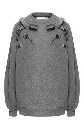 Хлопковый пуловер с декоративной отделкой | Фото №1
