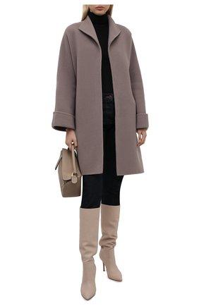 Женское шерстяное пальто с поясом GIORGIO ARMANI серого цвета, арт. 8WH0L002/T008G | Фото 2